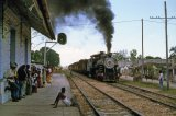 Cuba Railways, unknown station, No 1621 cane train 4.91