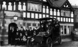 Motoring Birmingham Taxi outside Waggon and Horses pub probably Worcestershire c1912 CMc.jpg