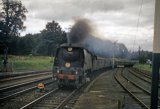West Country No 34091 WEYMOUTH passing Wilton Junction 8.9.62