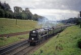 Merchant Navy No 35014 Nederland Line passing Wilton Junction with the Down Atlantic Coast Express 8.9.62